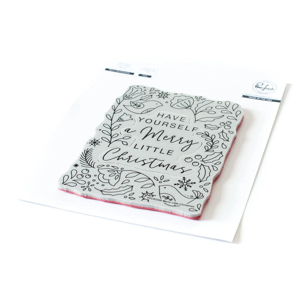 Merry Little Christmas, Pinkfresh Studio Cling Stamps - 736952868404