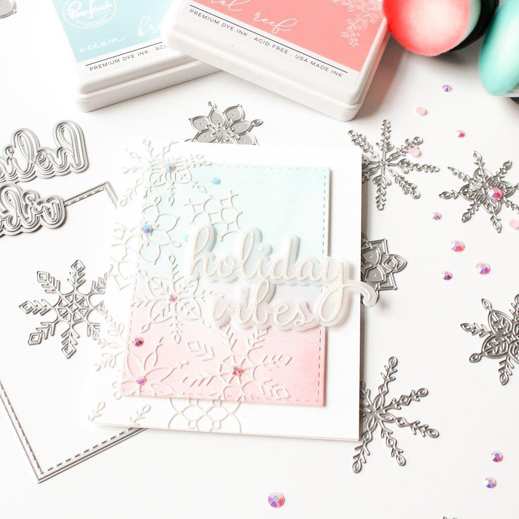Layered Snowflakes, Pinkfresh Studio Dies - Ellen Hutson LLC