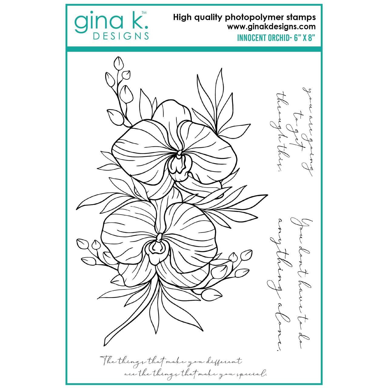 Innocent Orchid, Gina K Designs Clear Stamps - 609015526958