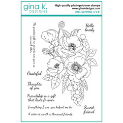 Timeless Poppies, Gina K Designs Clear Stamps - 609015526965