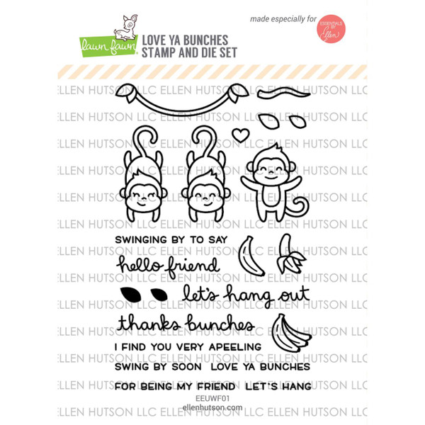 United We Flourish Stamp & Die Combo, Love Ya' Bunches by Lawn Fawn -