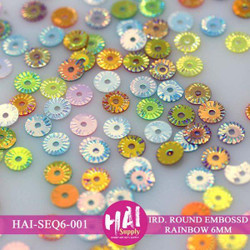 HAI Sequins, 6mm Embossed -