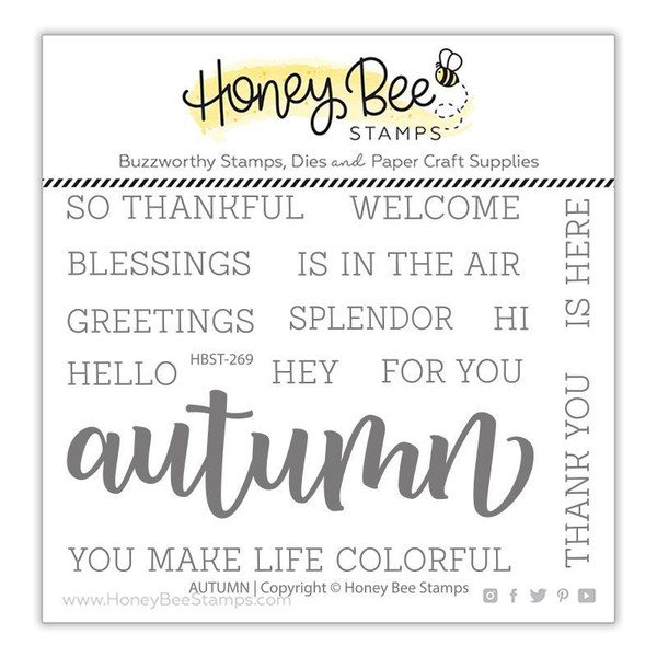 Autumn, Honey Bee Clear Stamps - 652827602600