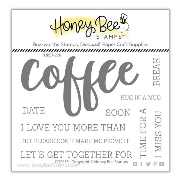 Coffee, Honey Bee Clear Stamps - 652827602730