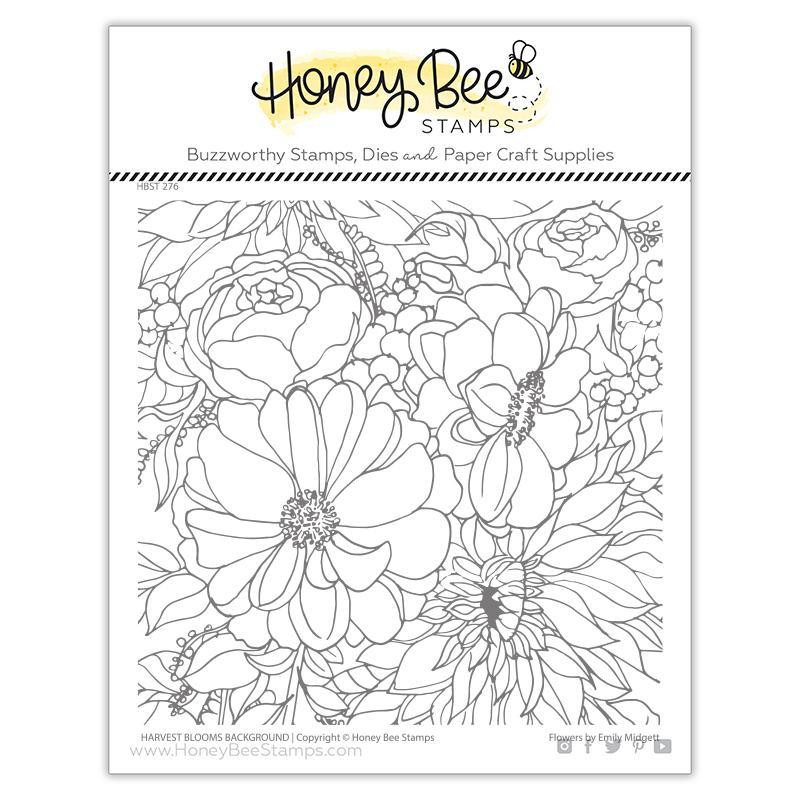 Harvest Blooms Background, Honey Bee Clear Stamps - 652827602716