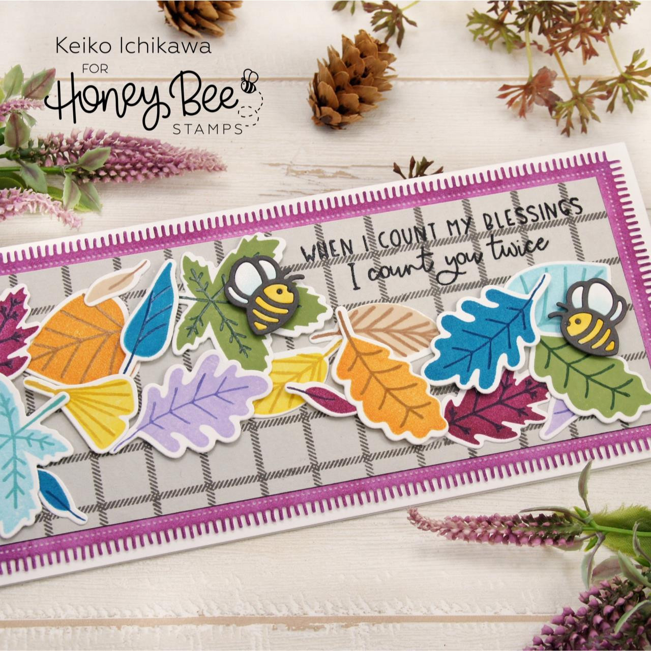 Hello Fall, Honey Bee Clear Stamps - 652827602594