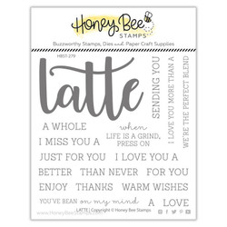 Latte, Honey Bee Clear Stamps - 652827602747