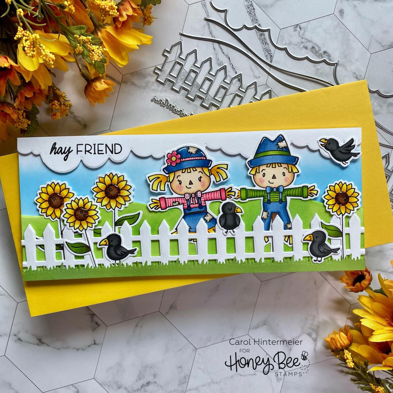 Let's Hang Out, Honey Bee Clear Stamps - 652827602631