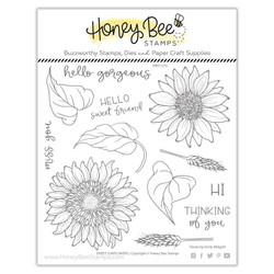 Sweet Sunflowers, Honey Bee Clear Stamps - 652827602693