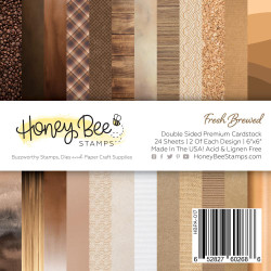 Fresh Brewed, Honey Bee 6 X 6 Paper Pad - 652827602686