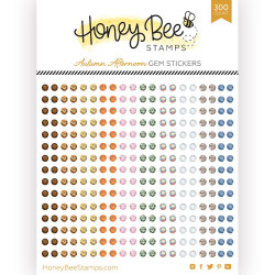 Autumn Afternoon Gems, Honey Bee Stickers - 652827599962