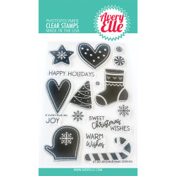Christmas Cookies, Avery Elle Clear Stamps - 811568029118