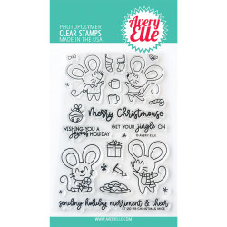 Christmas Mice, Avery Elle Clear Stamps - 811568028937
