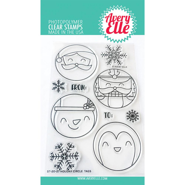 Holiday Circle Tags, Avery Elle Clear Stamps - 811568028890
