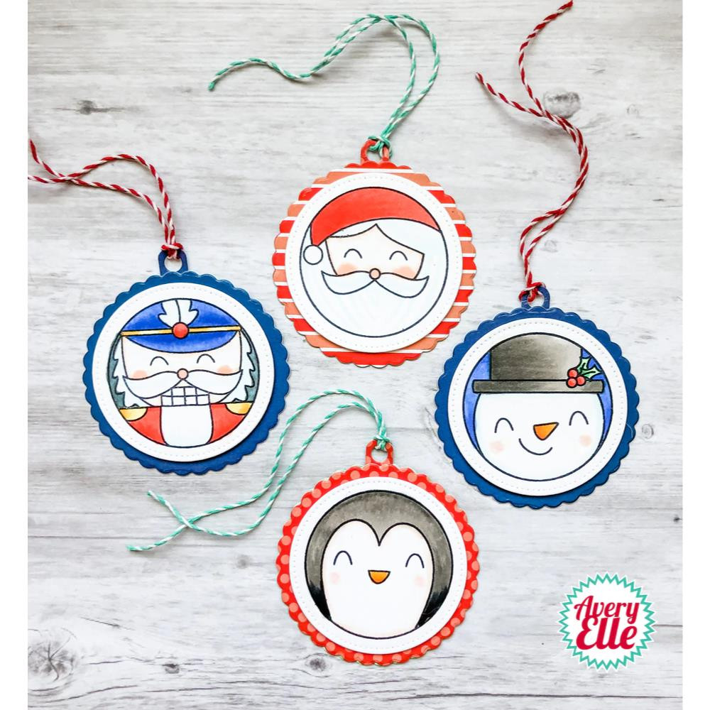 Holiday Circle Tags, Avery Elle-ments Dies - 811568028906