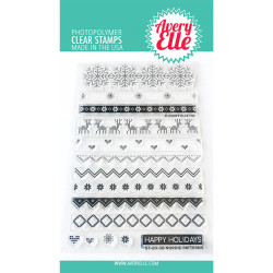 Nordic Patterns, Avery Elle Clear Stamps - 811568029101