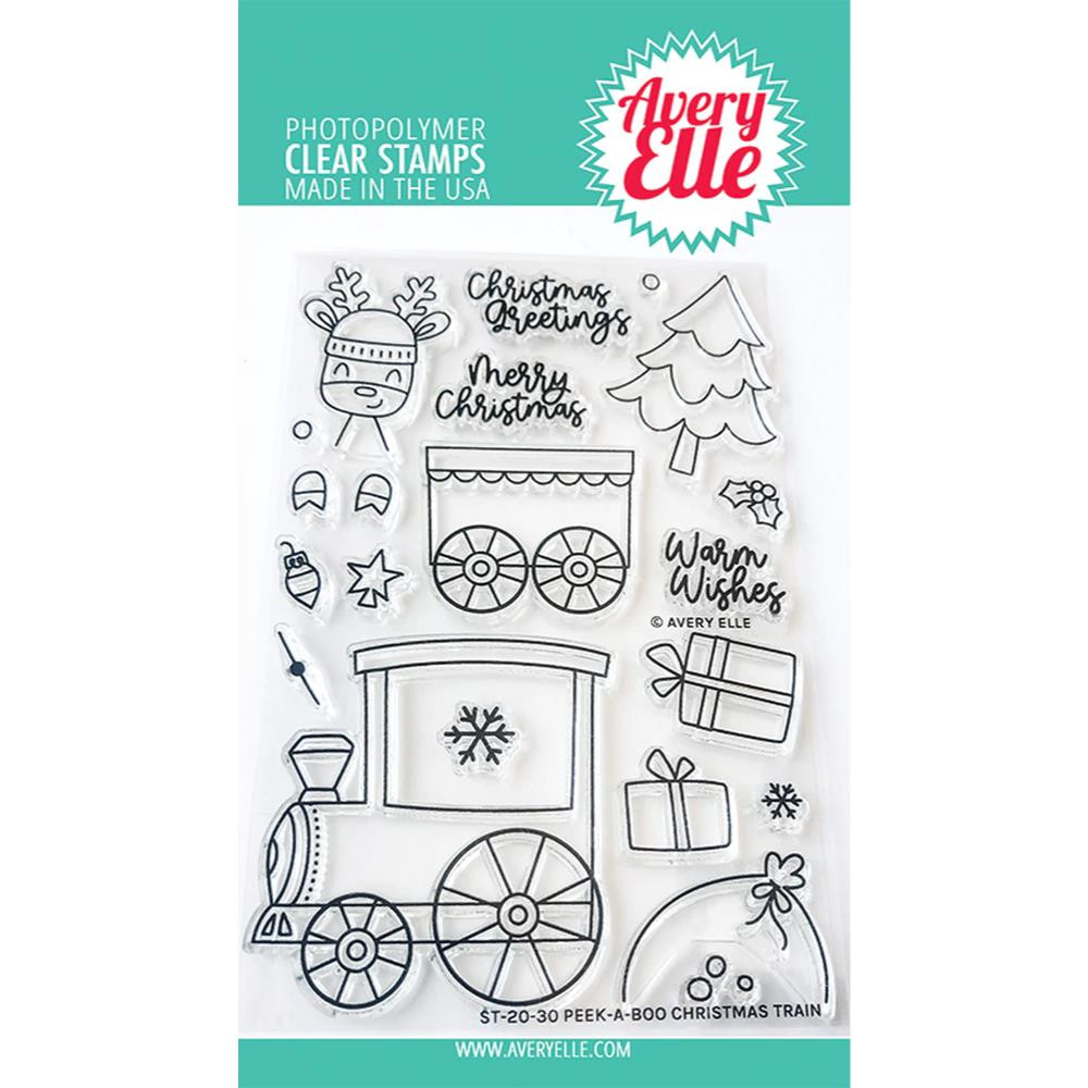 Peek-A-Boo Christmas Train, Avery Elle Clear Stamps - 811568028951