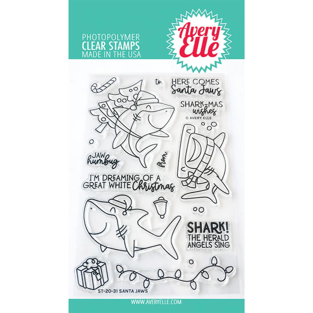 Santa Jaws, Avery Elle Clear Stamps - 811568028968