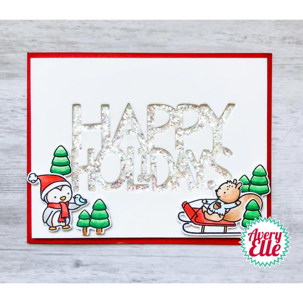 Winter Friends, Avery Elle Clear Stamps - 811568029026