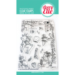 Woodland Scene Builder, Avery Elle Clear Stamps - 811568029040