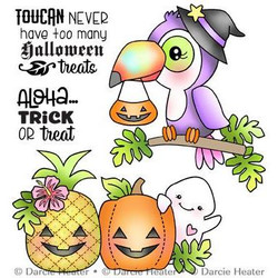 Toucan Halloween, Darcie's Clear Stamps -