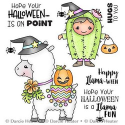 Llama Halloween, Darcie's Clear Stamps -