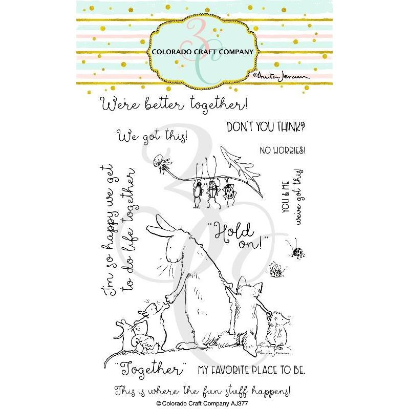(PREORDER) Better Together by Anita Jeram, Colorado Craft Company Clear Stamps -