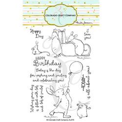 Birthday Wishing by Anita Jeram, Colorado Craft Company Clear Stamps -