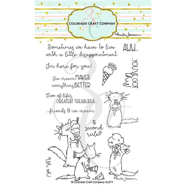 Ice Cream Day by Anita Jeram, Colorado Craft Company Clear Stamps -