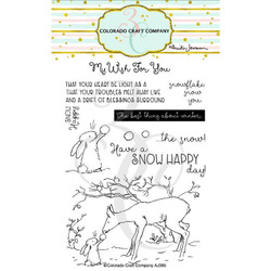 Snow Happy by Anita Jeram, Colorado Craft Company Clear Stamps -