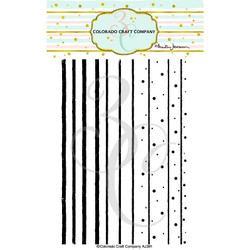 (PREORDER) Stripes & Dots Background by Anita Jeram, Colorado Craft Company Clear Stamps -