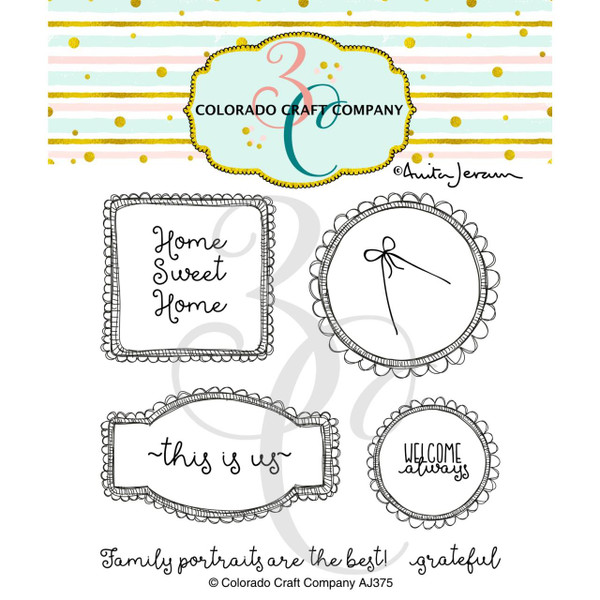 This Is Us Frames by Anita Jeram, Colorado Craft Company Clear Stamps -