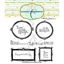 Wall Words by Anita Jeram, Colorado Craft Company Clear Stamps -