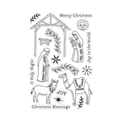 Floral Nativity, Hero Arts Clear Stamps - 085700928519