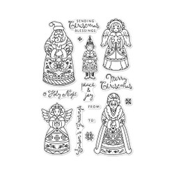 Christmas Folks, Hero Arts Clear Stamps - 085700928472