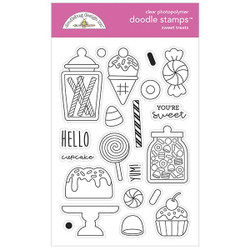 Sweet Treats, Doodlebug Clear Stamps - 842715069749
