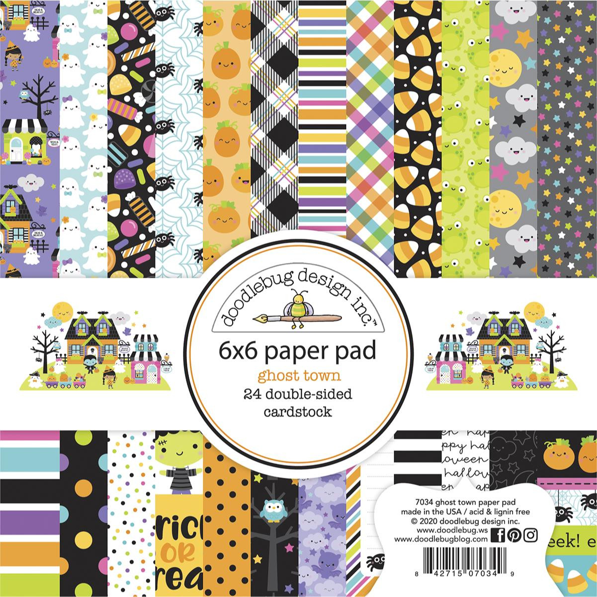 Ghost Town, Doodlebug 6 X 6 Paper Pad - 842715070349