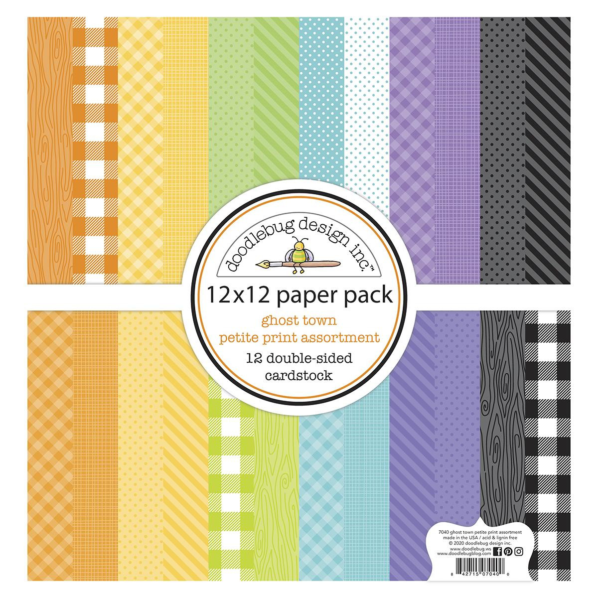 Ghost Town Petite Print Assortment, Doodlebug 12 X 12 Paper Pack - 842715070400
