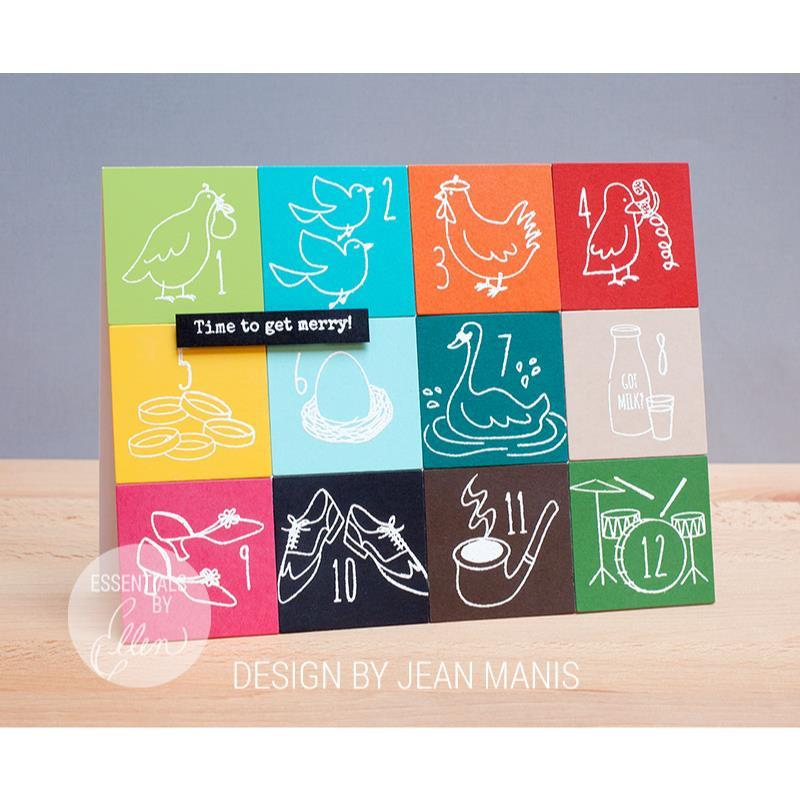 Twelve Days by Julie Ebersole, Essentials by Ellen Clear Stamps -