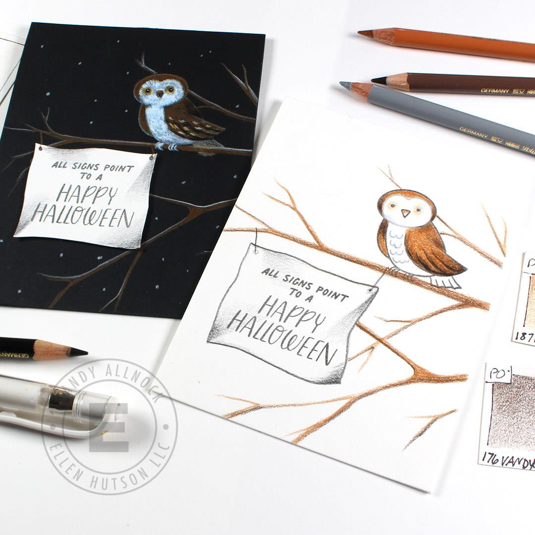 Halloween Magic by Julie Ebersole, Essentials by Ellen Clear Stamps -