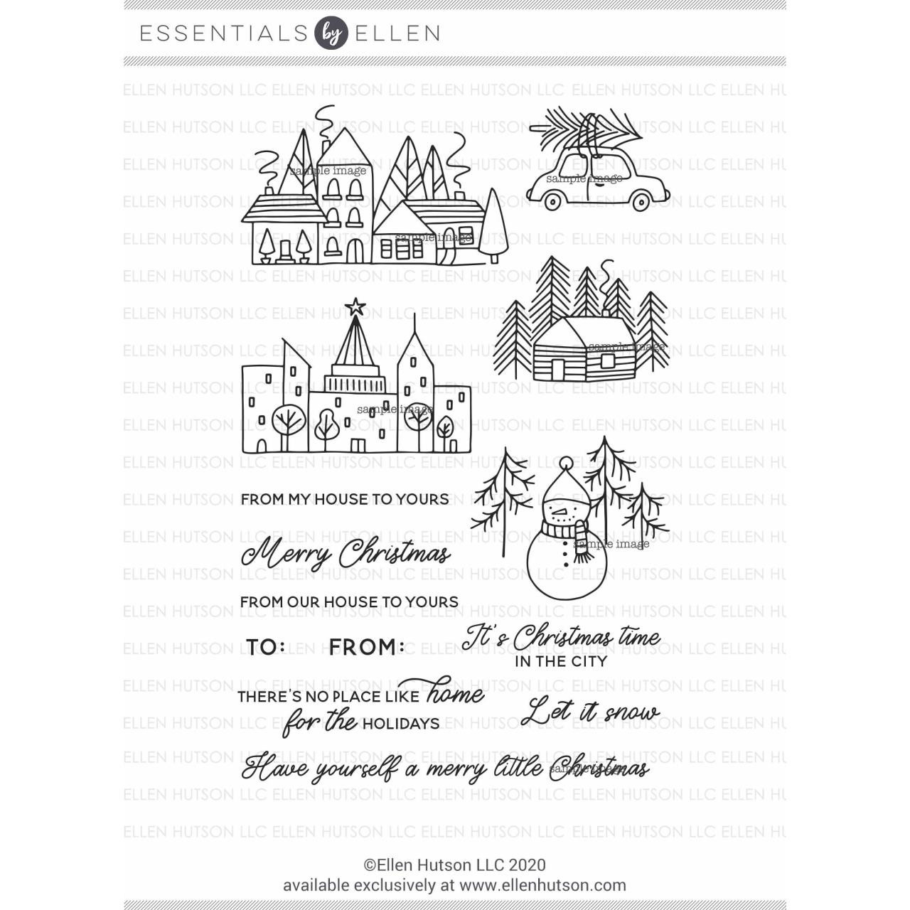 Merry Little Christmas by Julie Ebersole, Essentials by Ellen Clear Stamps -