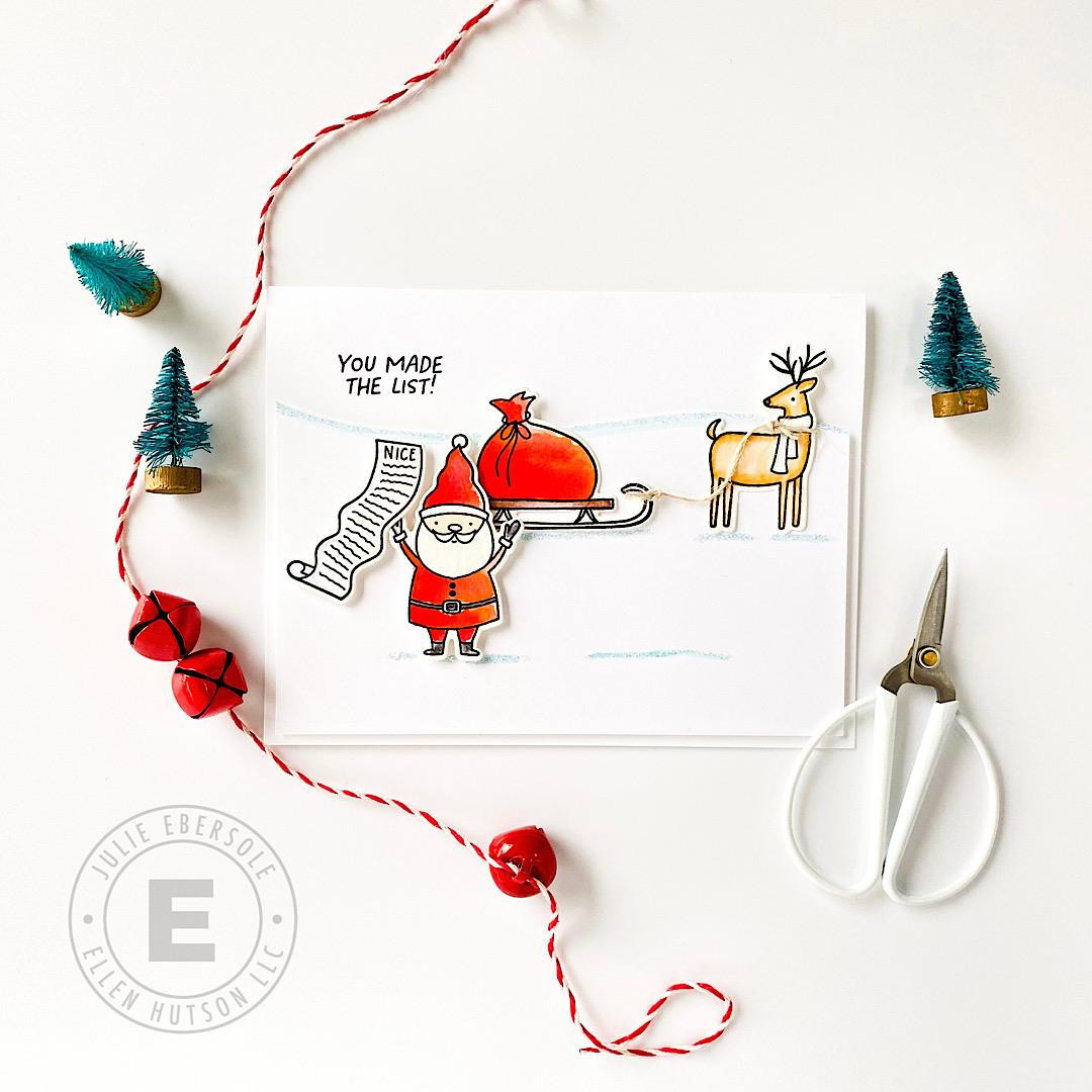 Santa's List by Julie Ebersole, Essentials by Ellen Clear Stamps -