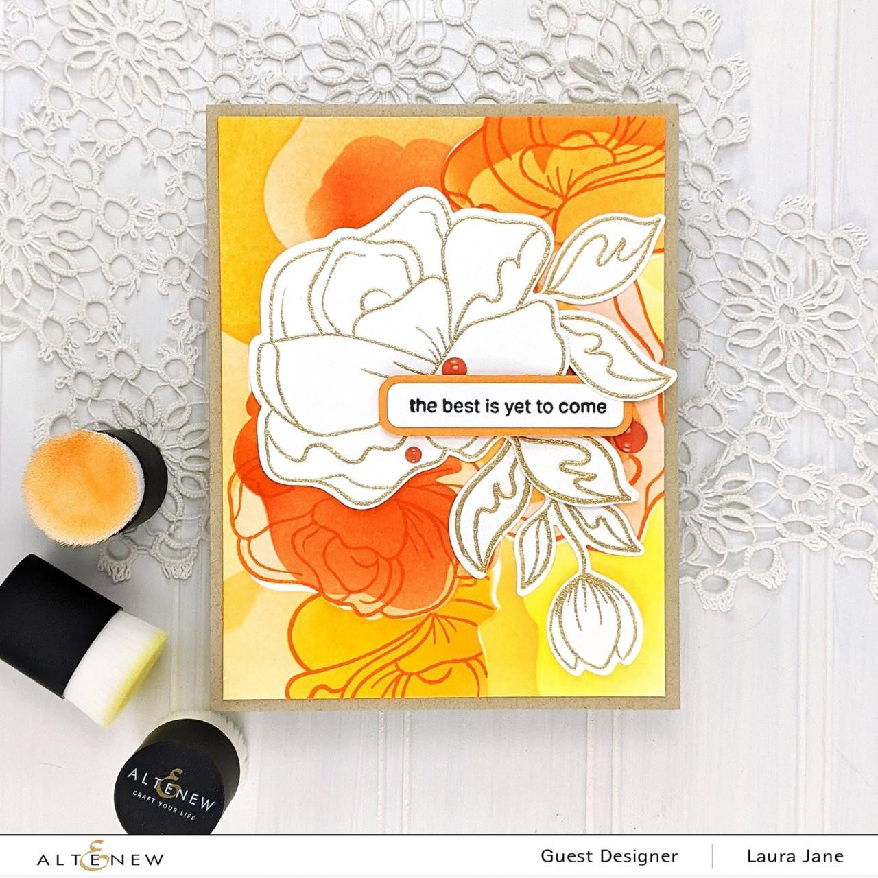 Simple Roses, Altenew Clear Stamps - 737787270363