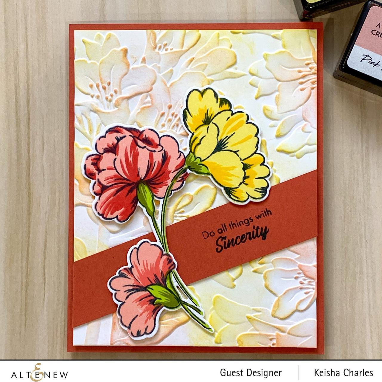 Sweet Flowers, Altenew Clear Stamps - 737787270417