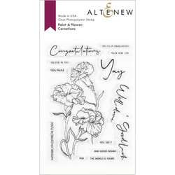 Paint-A-Flower: Carnations Outline, Altenew Clear Stamps -