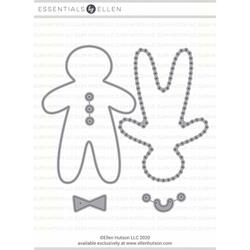 Gingerbread Plushie Boy by Julie Ebersole, Essentials by Ellen Designer Dies -