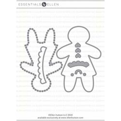 Gingerbread Plushie Girl by Julie Ebersole, Essentials by Ellen Designer Dies -