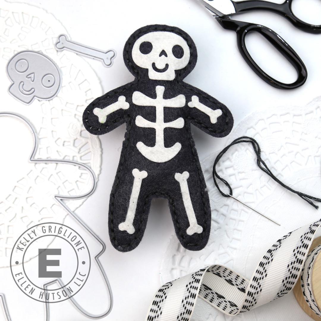 Gingerbread Plushie Skellie Add On by Julie Ebersole, Essentials by Ellen Designer Dies -