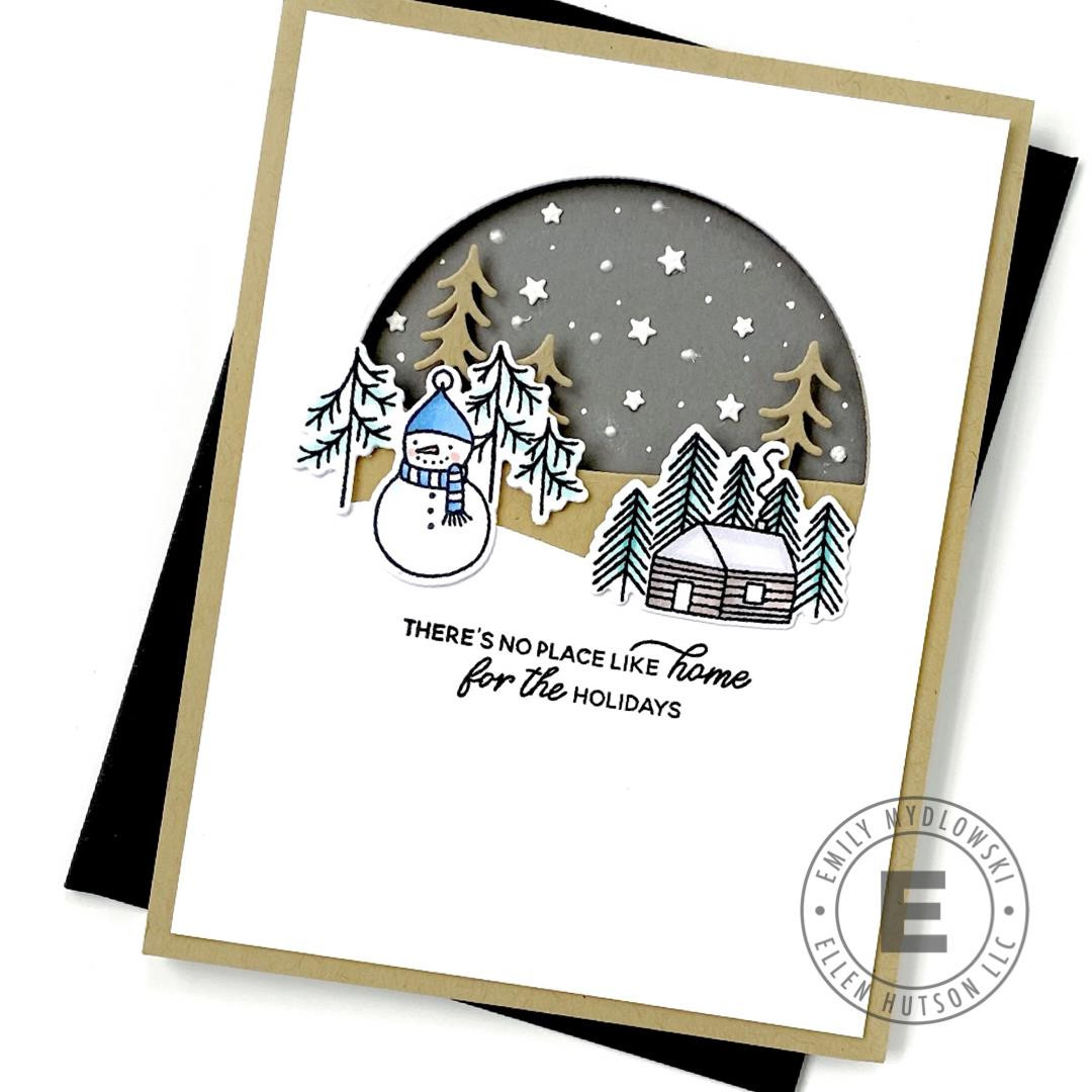 Merry Little Christmas by Julie Ebersole, Essentials by Ellen Designer Dies -