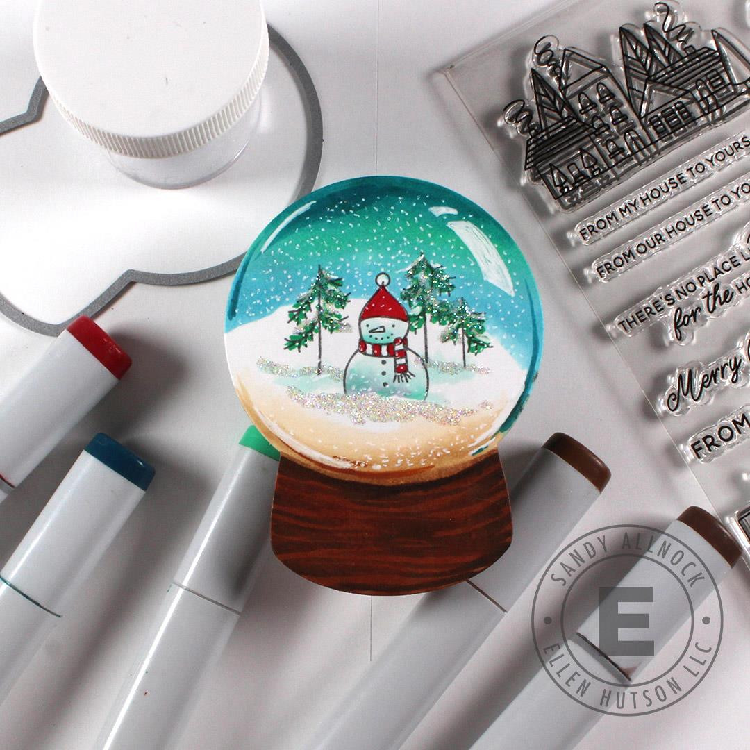 Shaker Globe by Julie Ebersole, Essentials by Ellen Designer Dies -
